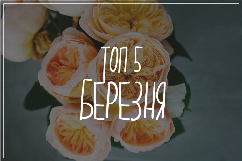 ТОП 5 Березня {починай свою супер весну: free принт}